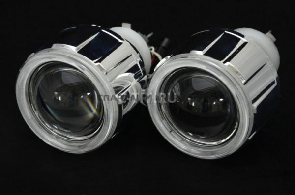 Биксеноновая линза C-3 G5 + ангельские глазки