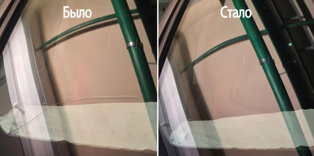 ремонт трещин стекол автомобиля в Красноярске